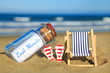 canvas print picture - Last Minute-Urlaub am Meer
