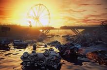 Apocalypse Sunset Landscape.