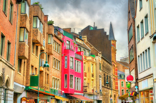 Buildings in the old town of Aachen, Germany Wallpaper Mural