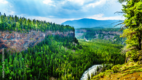 The Murtle River Canyon right after the Helmcken Falls in Wells Gray Provincial Park near the town of Clearwater, British Columbia, Canada