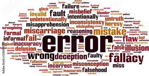 Fényképezés Error word cloud
