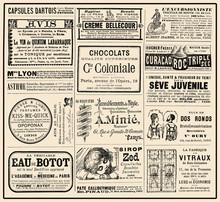 "Advertising Page On ""La Vie Parisienne"" French Satirical Magazine, Year 1888"