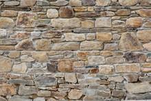 Magnifique Mur De Pierres En Granit à Perros-Guirec En Bretagne