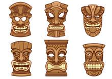 Tiki Mask Set