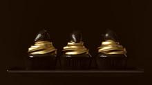 Black And Gold Luxury Strawber...