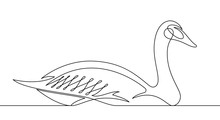 Goose Continuous Line Vector I...