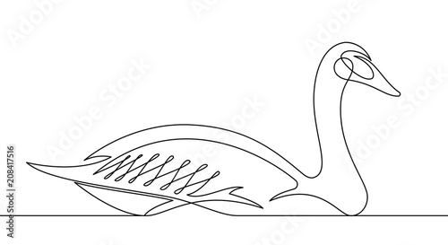 Goose Continuous Line Vector Illustration