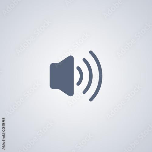 Media stereo icon Obraz na płótnie