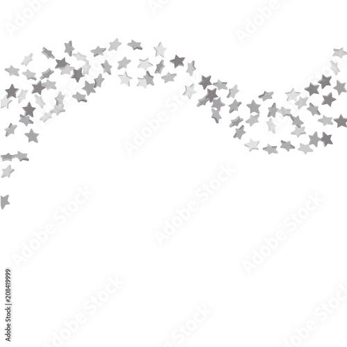 Fototapety, obrazy: Falling confetti stars