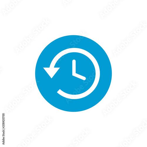 Foto  History vector icon, time back symbol