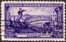 Washington At Brooklyn Stamp