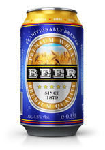 Light Wheat Beer Can Isolated ...
