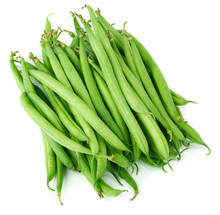 Green Beans Isolated On White ...