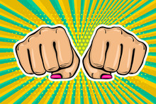 Girl Woman Power Fist Pop Art ...