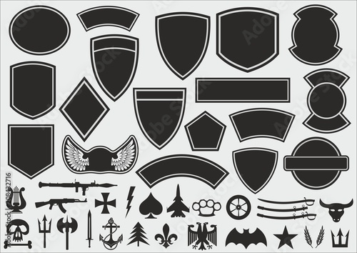 Canvas Print Military patch kit