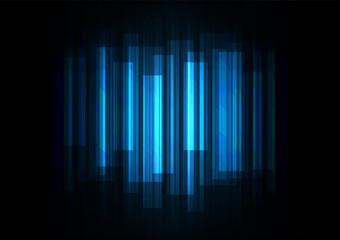 fade speed bar overlap in dark background, stripe layer backdrop, technology template, vector illustration