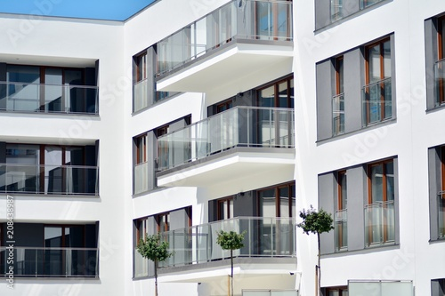 Modern apartment building exterior - Buy this stock photo ...