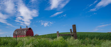 Red Barn In Palouse Lanscape