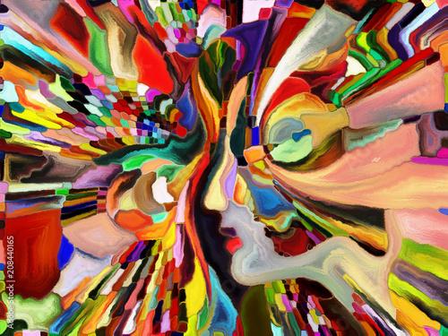 Foto op Aluminium Paradijsvogel bloem Synergies of Color Division