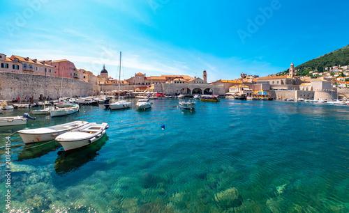 Hafen Dubrovnik, Adria, Kroatien Canvas Print