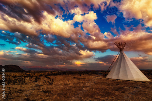 Teepee in the Mountains Canvas Print
