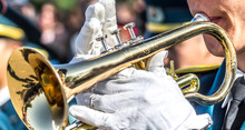 A Military Brass Band-Man Play...