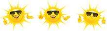 Cartoon Sonne Mit Sonnenbrille...