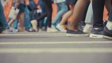 People Pedestrians Walks Acros...