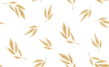 Seamless Pattern With Gold Leaves. Vector Floral Background.