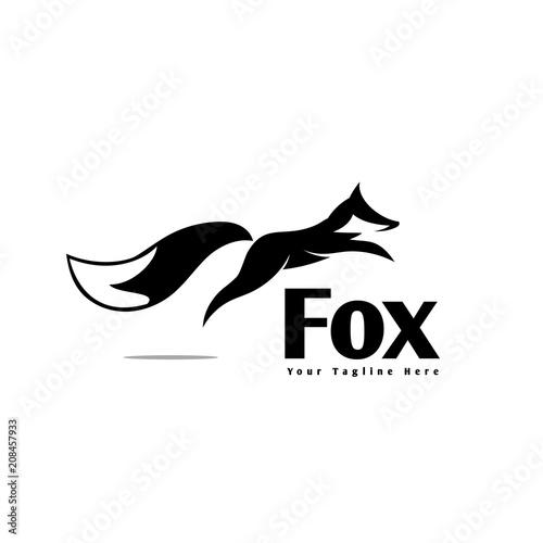 elegant jump fox logo - Buy this stock vector and explore similar