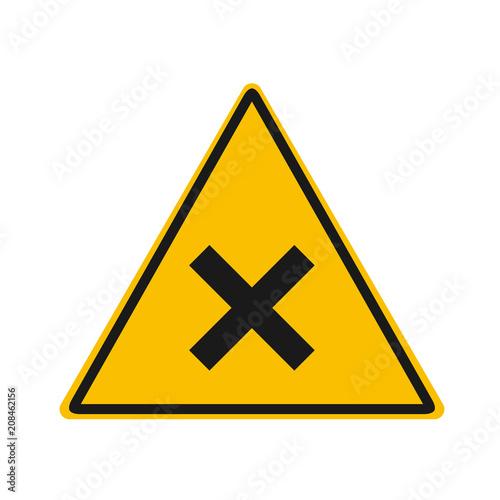 Fotografie, Obraz  irritant warning vector sing