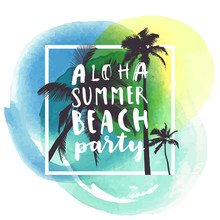 Aloha Summer Beach Party. Mode...