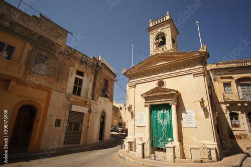 Foto op Canvas Oude gebouw Baroque streets of Birkirkara