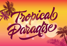 Tropical Paradise Greeting Car...
