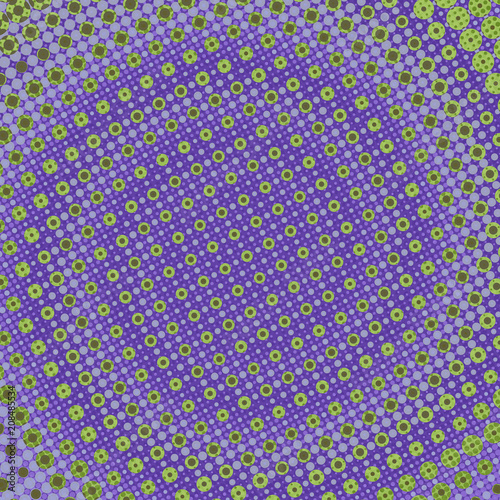 5b5af2e30c Retro Style Halftone Circles Dot Pattern with Swirl Spiral Design and  Multicolor Grunge Texture Colorful Shades of Purple and Green Background  Design Art ...