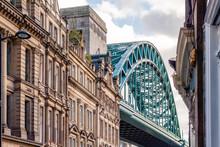 Tyne Bridge With Traditional A...