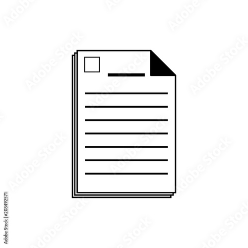 Legal Documents Vector IconModern Simple Flat Vector Illustration - Simple legal documents