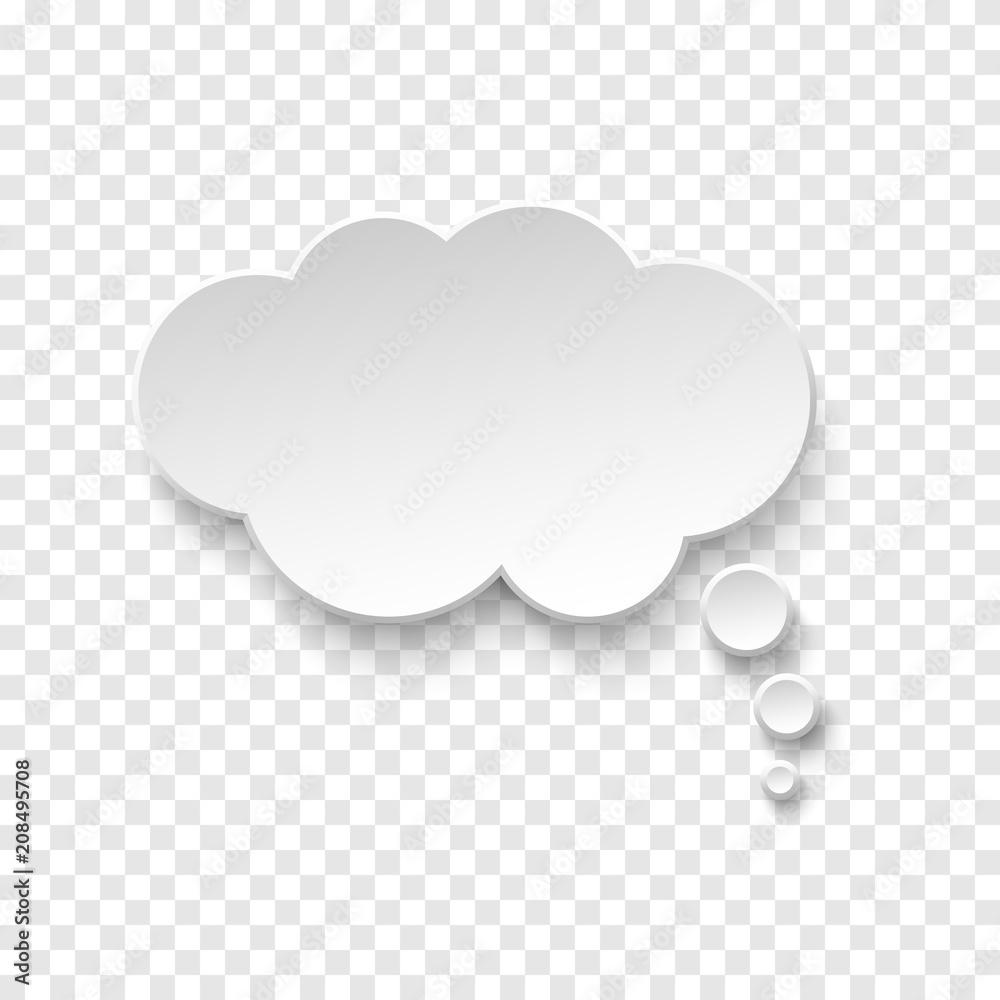 Fototapety, obrazy: Vector white blank paper speech bubble