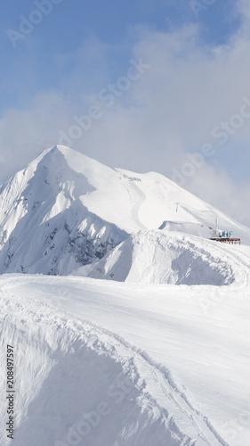 Obraz High snowy mountains, Russia - fototapety do salonu