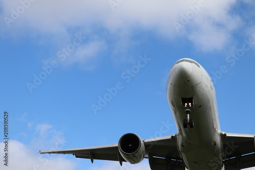 Fotografie, Obraz  着陸するジェット機