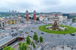 BARCELONA - MAY 12, 2018: Spain Square aerial view. Barcelona attracts 10 million tourists annually