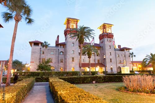Fototapeta Lightner museum in St Augustine, sunset view