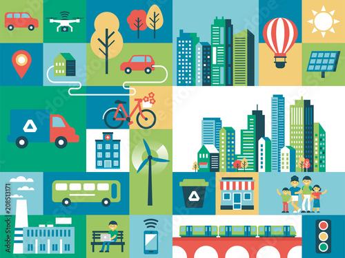 Smart city concept - 208513171