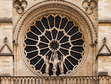 Close Up Of Rose Window In Not...