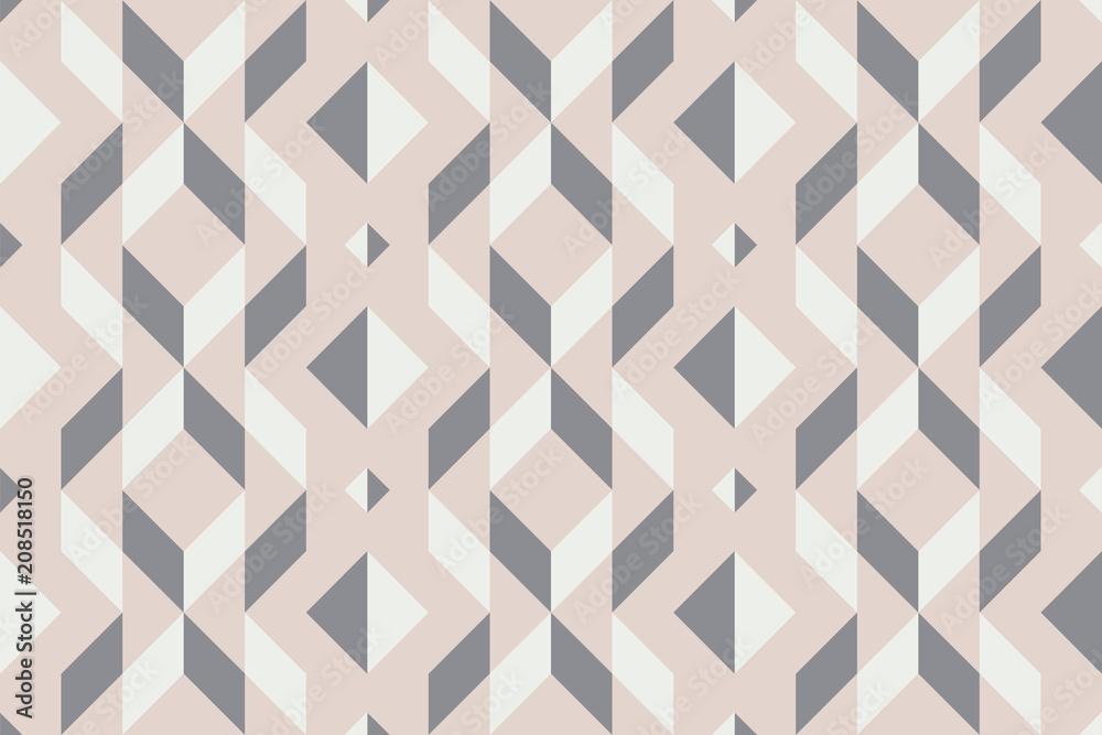 Geo seamless pattern, geometrical ornament, seamless fabric print, pale pastel geometric bacckground, vintage seamless background