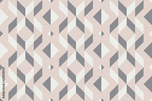 Foto auf AluDibond Boho-Stil Geo seamless pattern, geometrical ornament, seamless fabric print, pale pastel geometric bacckground, vintage seamless background