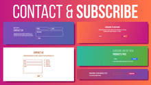 Website Contact, Subscribe Form Vector. Modern Template. Our Newsletter. Illustration