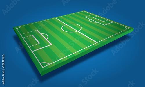 Fotografie, Obraz  Terrain de football