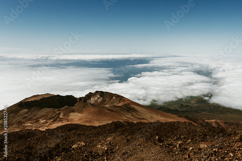 In de dag Blauwe jeans Above the clouds on Teide Volcano, Canary Islands - Tenerife, Spain