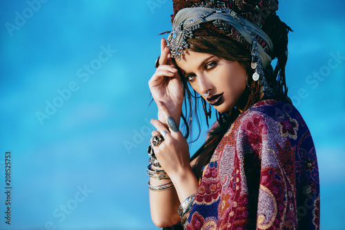 Poster Gypsy fashion model outdoor